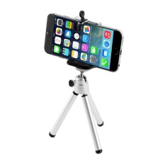 OH Universal Mini Stand Tripod Mount + Holder untuk IPhone 6 6 Plus 5S5C 5 (Hitam)