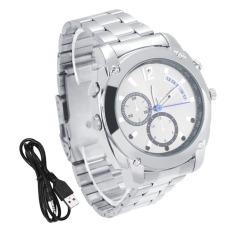 OH W6000 1920*1080 HD Tahan Air Watch Kamera DVR dengan IR NightVision 8G Silver-Intl