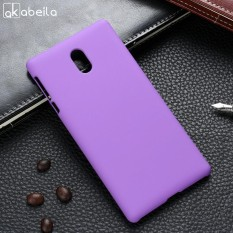Minyak Karet Dilapisi Warna Tidak Mengkilap Ponsel Case S untuk Nokia 3 5.0 Inch Sarung Telepon Kembali Plastik Telepon Case Tas kerangka Pelindung Cangkang Tudung-Internasional