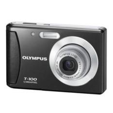 Olympus T-100 12MP Digital Kamera dengan 3X Optik Zoom dan 2.4 Inch LCD (Hitam) (Model Lama) -Internasional