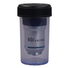 OMAX 60X Achromatic Lensa Objektif (Spring) untuk Mikroskop Majemuk-Intl