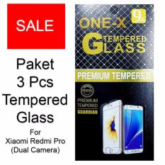 ONE-X Paket 3 Pcs 2.5D Rounded Tempered Glass for Xiaomi Redmi Pro ( Dual Camera ) - Clear