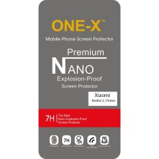 ONE-X Premium Nano Explosion-proof Anti Shatter Film Non Tempered Glass for Xiaomi Redmi 2s / Prime / Pro - Clear