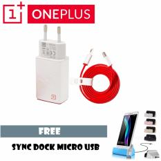 Jual Oneplus Travel Charger Original 2A Cable Micro Usb Sync Dock Charger Murah