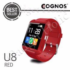 Onix Cognos Smartwatch U Watch U8 - Merah (TERMASUK BOX)