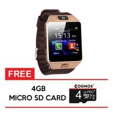 Onix Cognos Smartwatch U9 DZ09 - GSM Sim Card FREE SD CARD 4GB - TERMASUK BOX - Gold