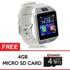 Onix Cognos Smartwatch U9 DZ09 - GSM Sim Card FREE SD CARD 4GB - TERMASUK BOX - Putih