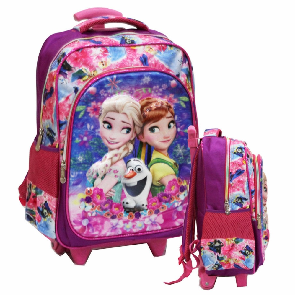 Ulasan Mengenai Onlan Disney Frozen Fever 5D Timbul Hologram Tas Trolley Anak Sekolah Sd Ukuran Sedang Import
