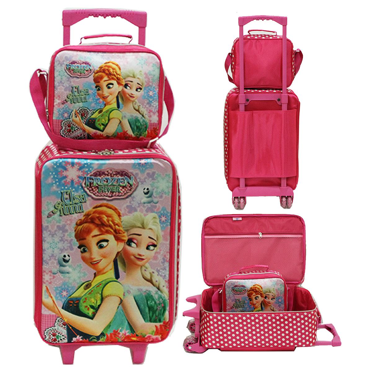 Beli Onlan Disney Frozen Fever Set Koper Lunch Bag Anak Bahan Satin Berkualitas New Arrival Pink Murah