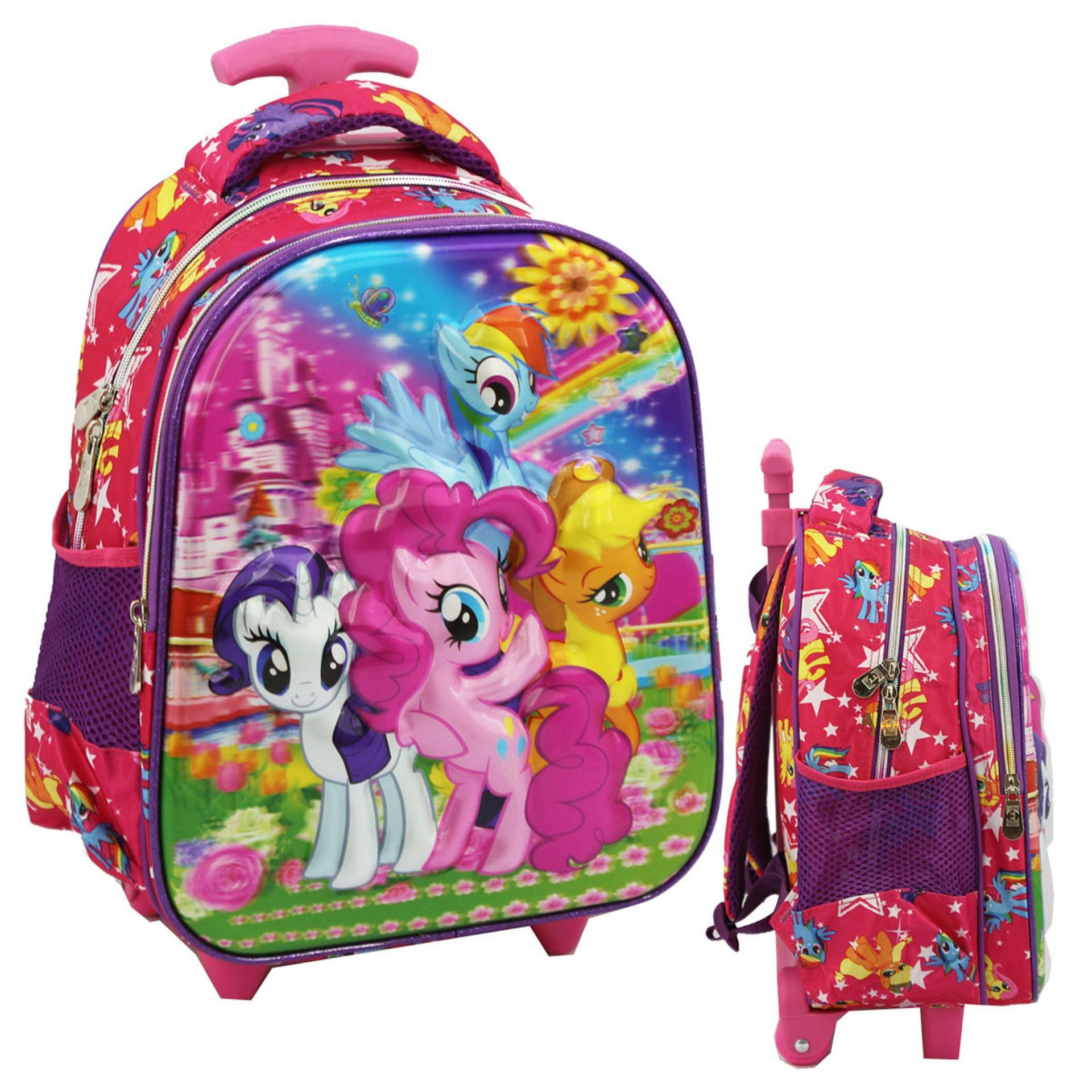 Diskon Onlan My Little Pony 5D Timbul Hologram Trolley Anak Sekolah Tk Ungu