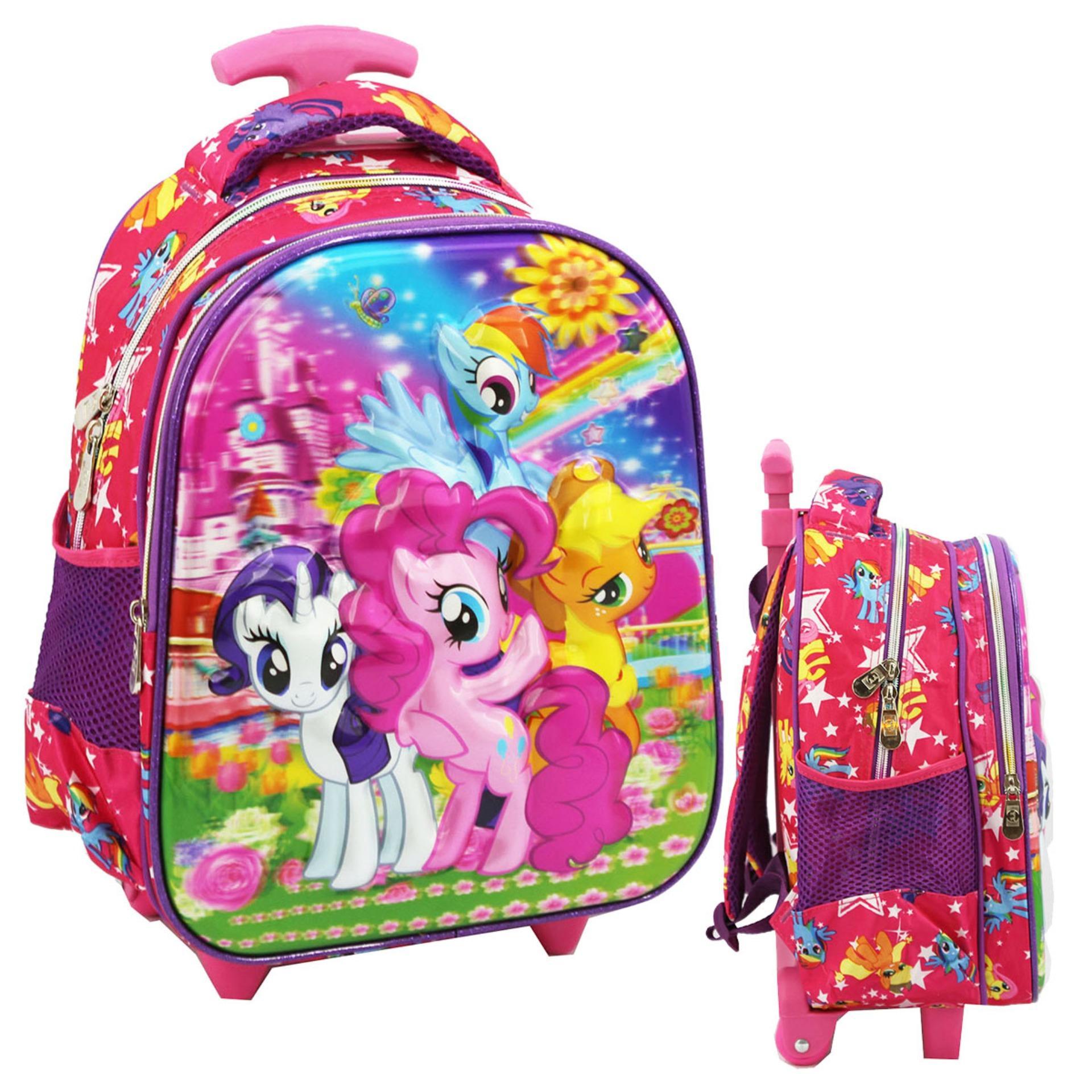 Harga Onlan My Little Pony Flower 5D Timbul Hologram Tas Anak Sekolah Tk Fullset Murah