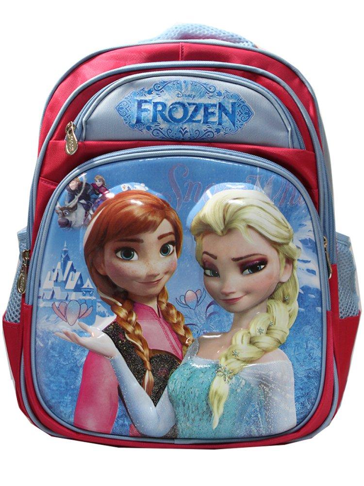 Harga Onlan Ransel Disney Frozen Elsa Dan Anna 3D Timbul 4 Kantung Depan Murah
