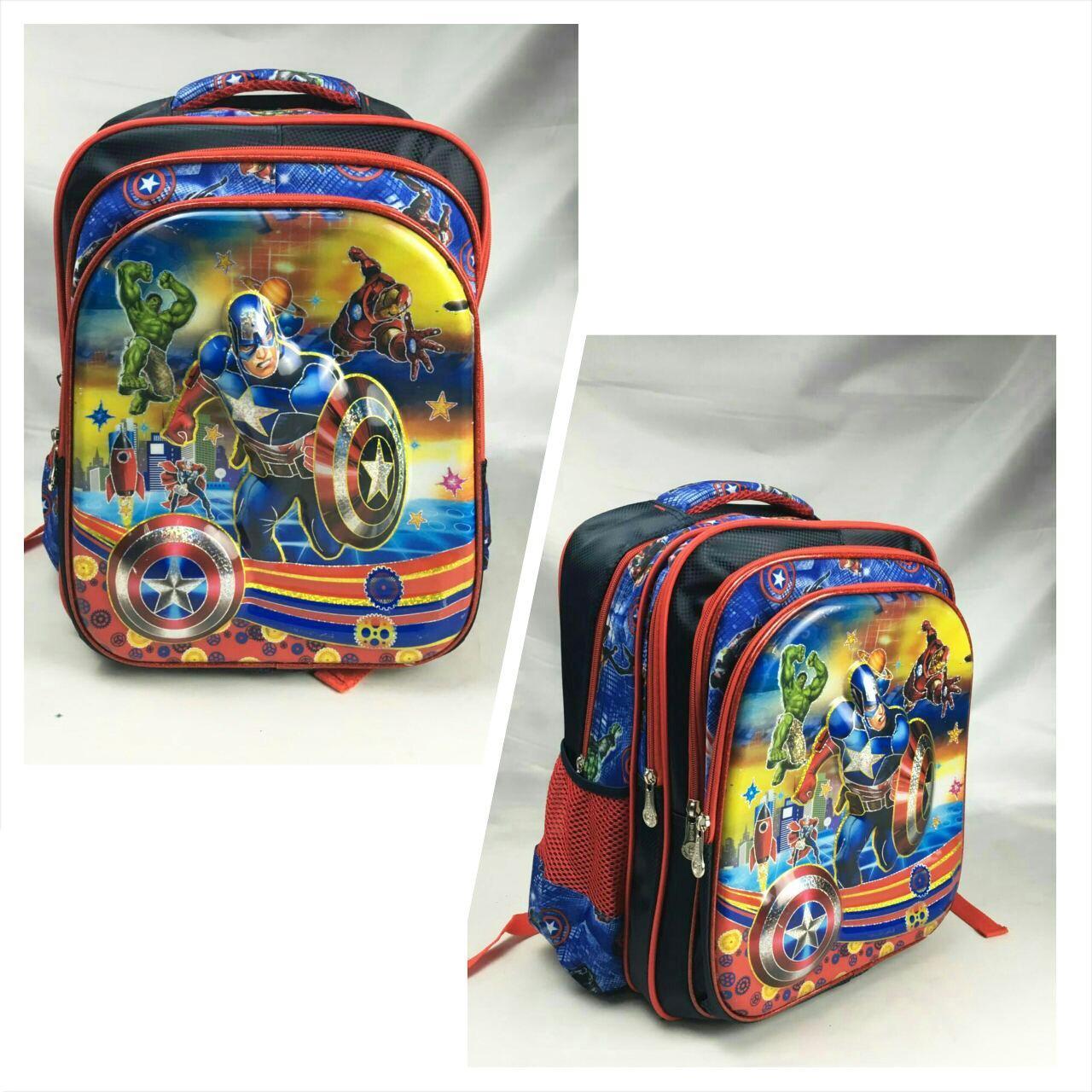 Ulasan Mengenai Onlan Tas Ransel Anak Sekolah Sd Motif Karakter Avengers Super Hero 5D Timbul Kantung Besar Import