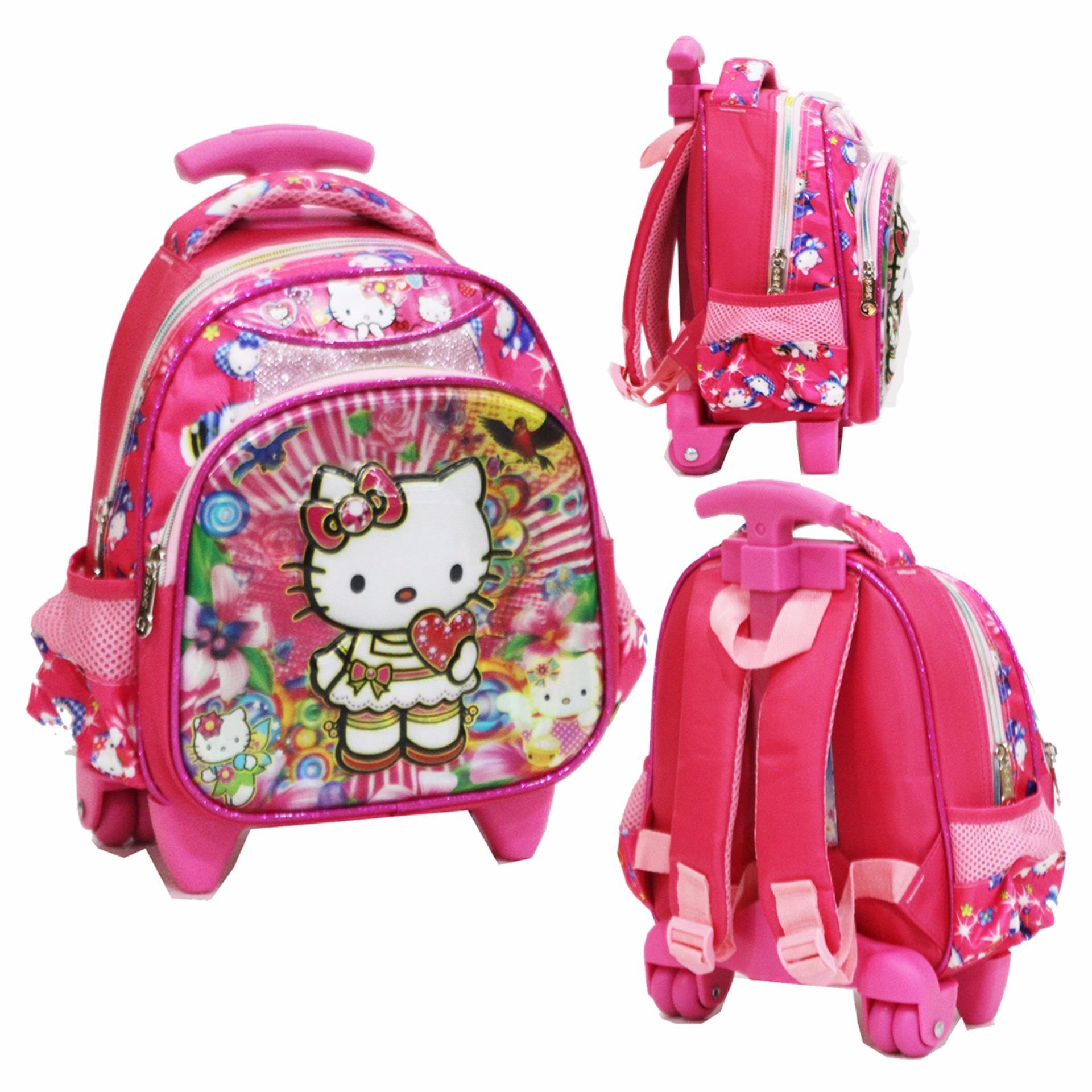 Beli Onlan Tas Trolley Anak Sekolah Paut Karakter Hello Kitty Cantik 5D Timbul Hologram Online Dki Jakarta