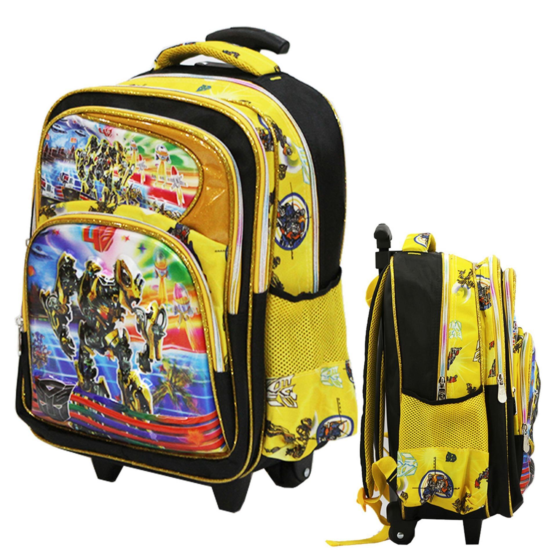 Beli Onlan Tas Trolley Anak Sekolah Sd Transformers Bumble Bee 5D Timbul Hologram Ukuran 4 Kantung Besar Import Yellow Onlan