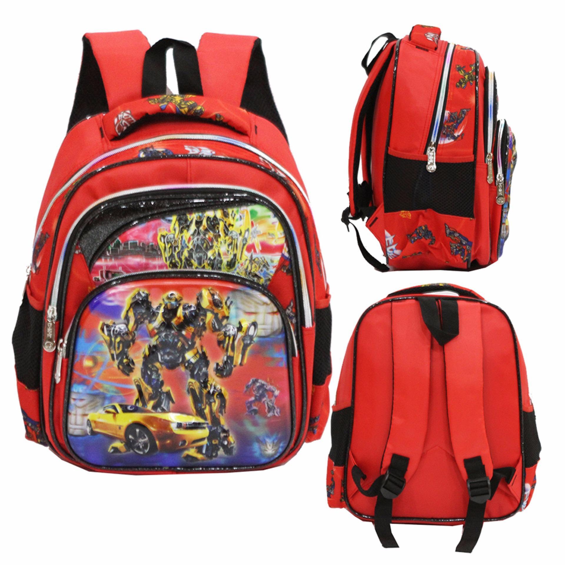 Beli Onlan Transformers 5D Timbul Hologram Tas Ransel Anak Sekolah Tk Ada 3 Kantung Import Red Yang Bagus