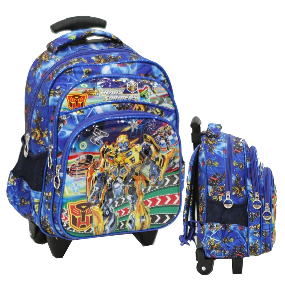 Top 10 Onlan Transformers Bumble Bee 6D Timbul Tas Trolley Anak Sekolah Tk Pg Import Blue Online