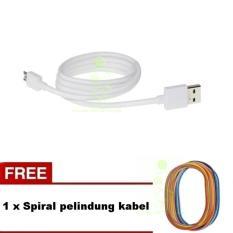 Oppo 100% Original Kabel Data Oppo Ori Cable Data Oppo Micro Usb  Kabel Oppo bisa buat charger dan transfer data Cable oppo - White