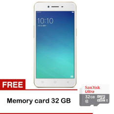 Harga Oppo A37 16Gb Gold Gratis Memory Sandisk 32Gb Class 10 Tongsis New
