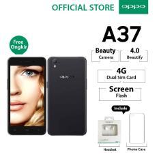 Oppo A37 2GB/16GB Black – Smartphone Beauty Camera (Garansi Resmi Oppo Indonesia, Cicilan Tanpa Kartu Kredit, Gratis Ongkir)