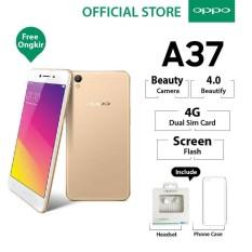Oppo A37 2GB/16GB Gold – Smartphone Beauty Camera (Garansi Resmi Oppo Indonesia, Cicilan Tanpa Kartu Kredit, Gratis Ongkir)
