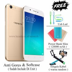Oppo A39 - Unstoppable Selfie - Ram 3GB - Rom 32GB - Free 3 item - Gold