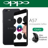 Oppo A57 Ram 3Gb Rom 32Gb Fingerprint 4G Matte Black Original