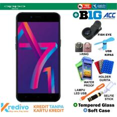 Oppo A71 2018 2/16 - Black Plus BIG ACCECORIES Cash & Kredit Tanpa Kartu Kredit