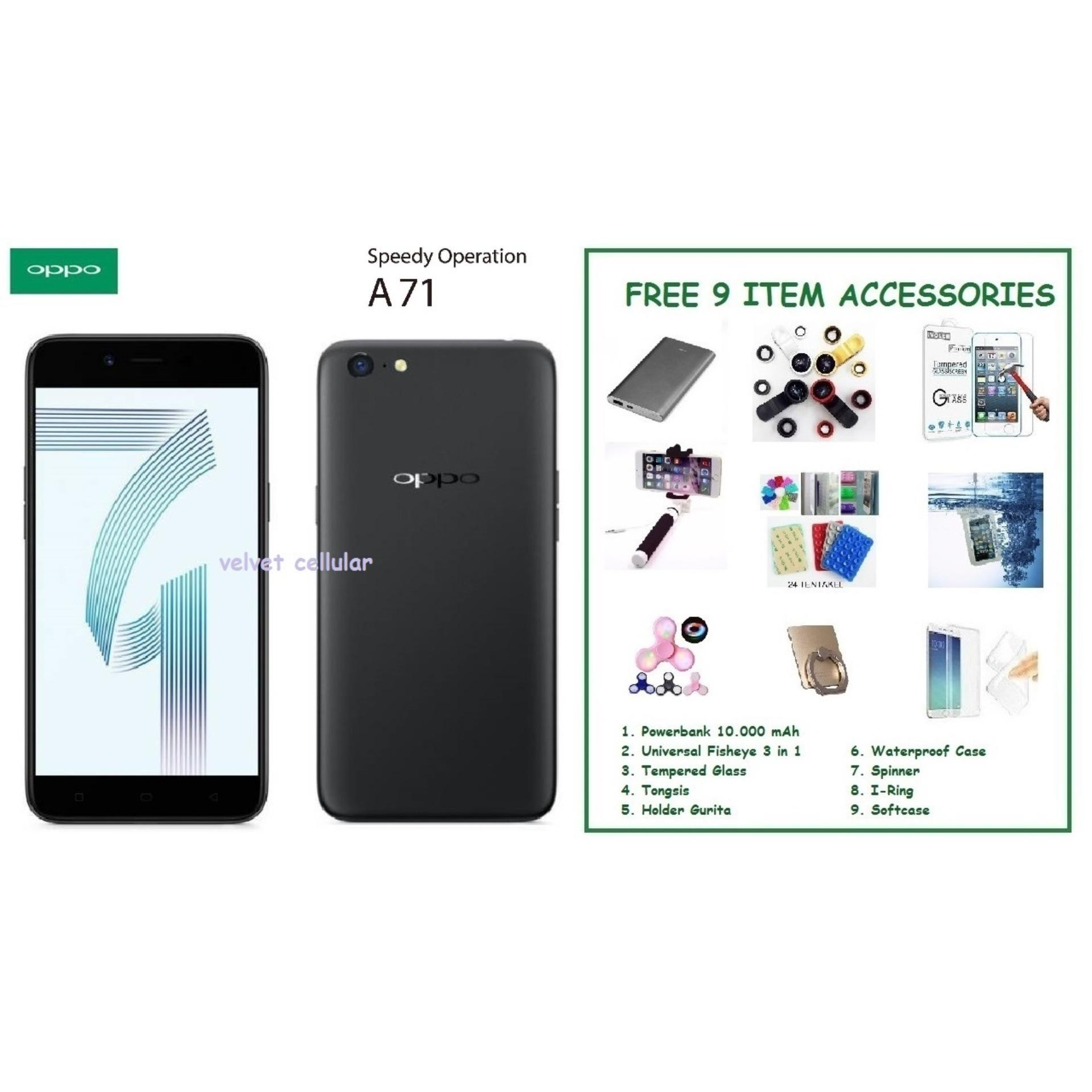 ... OPPO A71 [2/16GB] + FREE 9 ITEM ACCESSORIES