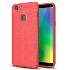 OPPO A79 Litchi Texture Design Soft TPU Anti-skip Protective Cover Back Case (Red) - intl