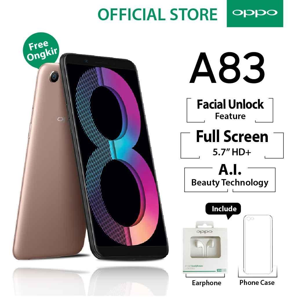 Harga Oppo A83 3 32Gb Gold Smartphone Face Unlock Garansi Resmi Oppo Indonesia Cicilan Tanpa Kredit Gratis Ongkir Online