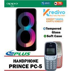 Oppo A83 3/32 GB - Black Plus Handphone Prince PC-5  Cash Dan Kredit Tanpa Kartu Kredit