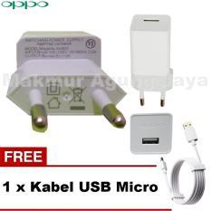 Oppo AK903 Travel Charger Charger Kabel 10W AK903 - Input 100 - 240V Original - Putih