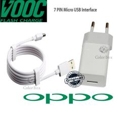 Oppo Charging Cepat Flash Travel Charger Oppo Fast 4A VOOC AK779 Original Versi Colokan Listrik Konektor Kaki Bulat Eropa / Indonesia + Kabel Oppo 7 Pin VOOC Original - White
