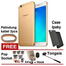 Oppo F1s Selfie Expert 4G - 32GB - Gold + Free 5 Item