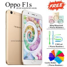 Oppo F1s Selfie Expert - New Edition - Ram 4GB - 64GB - Fingerprint - Jaringan 4G - Gold