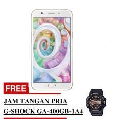 Oppo F1s Selfie Expert Smartphone - Gold - 32 GB + Free Jam Tangan Pria