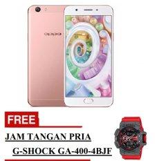 Oppo F1s Selfie Expert Smartphone -Rose Gold - 32 GB + Free Jam Tangan Pria