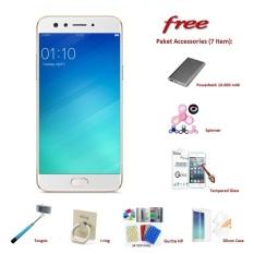 OPPO F3 [4/64GB] + Free 7 Item Accessories