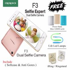 Oppo F3 - Dual Selfie Camera - Ram 4GB - Rom 64GB - Rose Gold