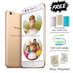 Harga Oppo F3 Dual Selfie Camera Ram 4Gb Rom 64Gb White Gold Oppo Asli