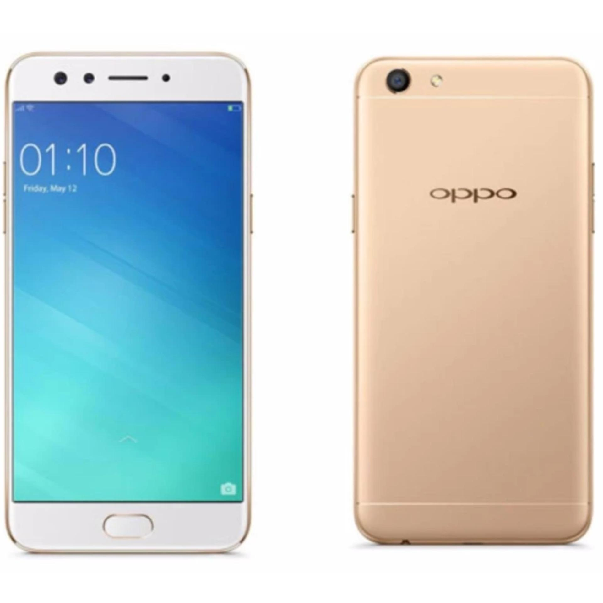 Oppo F3 - Gold   - Selfie Expert - Dual Front Camera - Ram 4GB - Rom 64GB