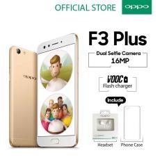 Oppo F3 Plus 4GB/64GB Gold – Smartphone Dual Selfie Camera (Garansi Resmi Oppo Indonesia, Gratis Ongkir)