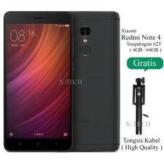 Xiaomi Redmi Note 4 Snapdragon - Ram 4GB - Rom 64GB - Garansi Resmi - Matte Black