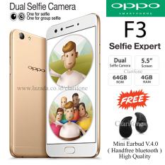 Oppo F3 - Selfie Expert - Dual Front Camera - Ram 4GB - Rom 64GB - Gold