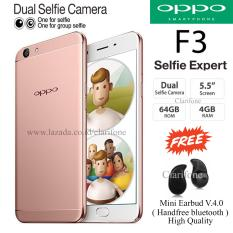 Oppo F3 - Selfie Expert - Dual Front Camera - Ram 4GB - Rom 64GB - Rose Gold