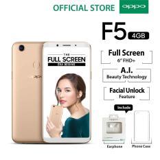 """Oppo F5 4GB/32GB Gold – Smartphone Full Screen 6"""" FHD+ (Garansi Resmi Oppo Indonesia, Cicilan Tanpa Kartu Kredit, Gratis Ongkir)"""