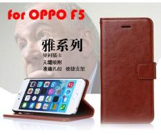 Cara Beli Oppo F5 Leather Wallet Original Flip Cover With Strap Case