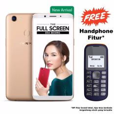Oppo F5 - RAM 4GB - ROM 32GB - 20MP Front Camera - Gold - Paket HP Fitur