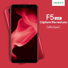 Oppo F5 Ram 6GB/64GB Free 3x Paket Accessories - RED Edition Smartphone